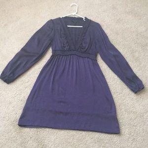 BCBG Maxazria purple silk dress